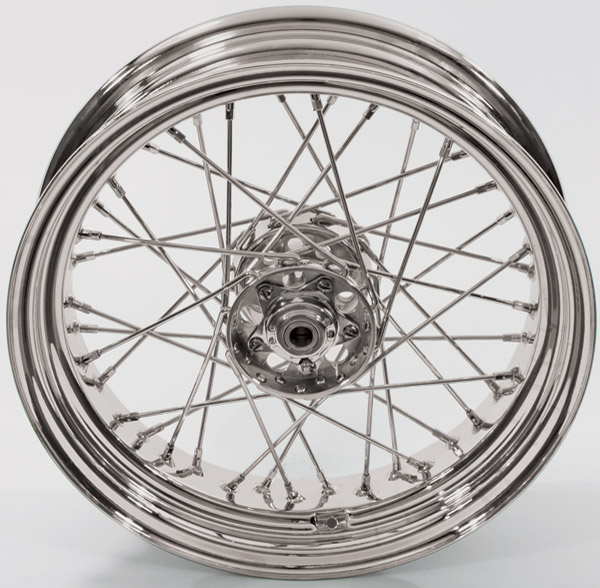 Replica 40 Spoke Star Hub Chrome Rear Wheel, 16 x 4.00