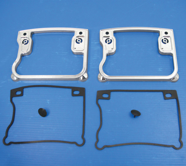 V-Twin Manufacturing Chrome Rocker Box Cover D-Ring Set