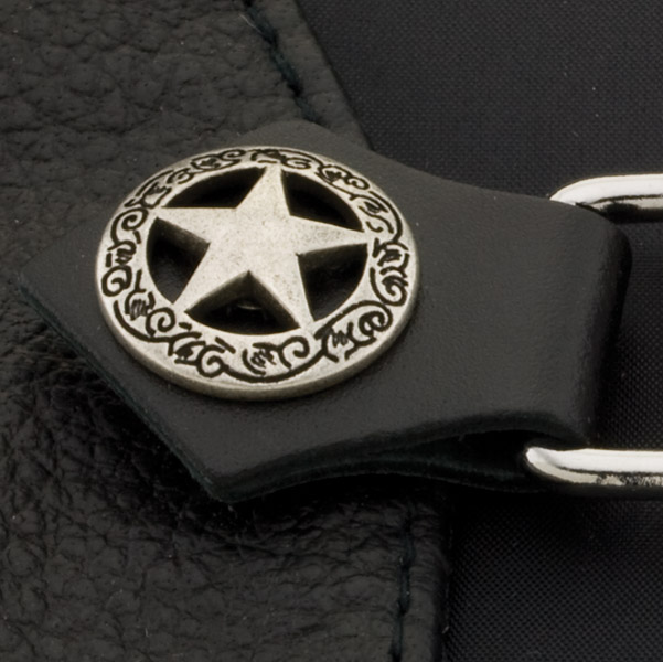 Eagle Leather Texas Star Silver Vest Extender