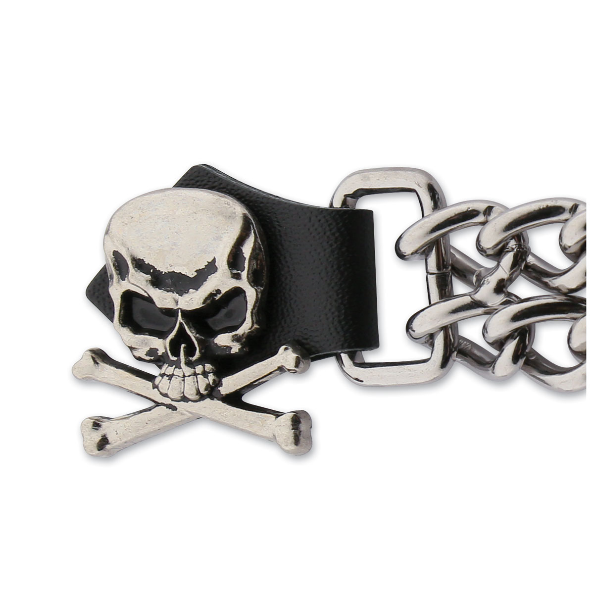 Eagle Leather Skull and Crossbones Vest Extender