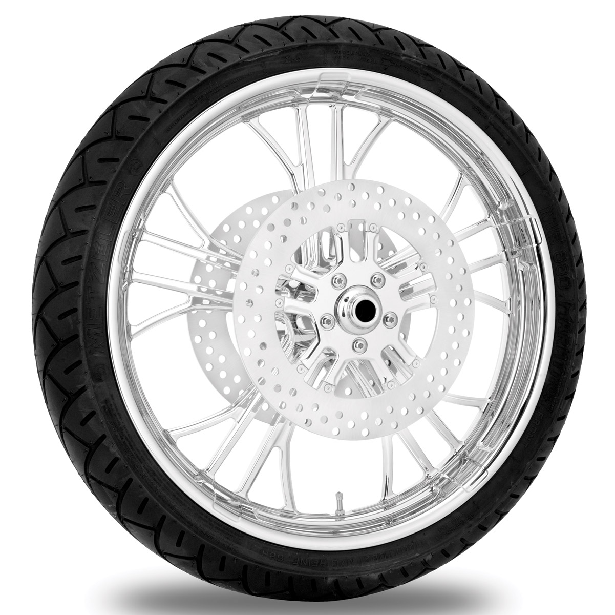 Performance Machine Dixon Chrome Front Wheel Package, 21″ x 3.5 with ABS