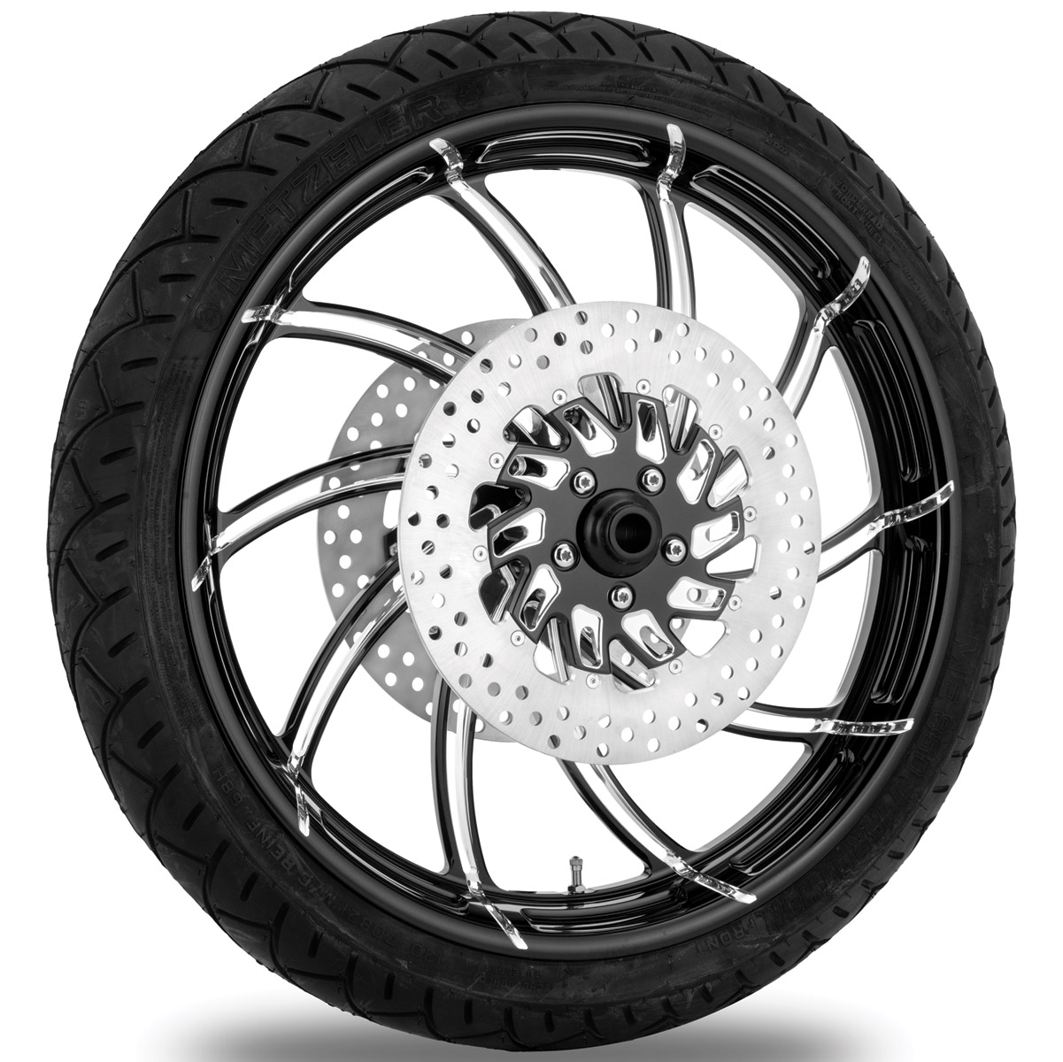 Performance Machine Supra Contrast Cut Platinum Front Wheel Package, 21″ x 3.5 WO/ABS