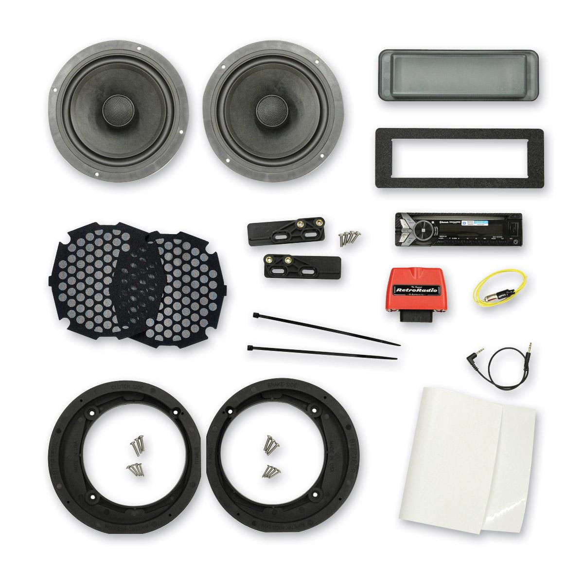 Biketronics Radio & 7.1″ Speaker Kit with Sony MEX-N5000BT Stereo