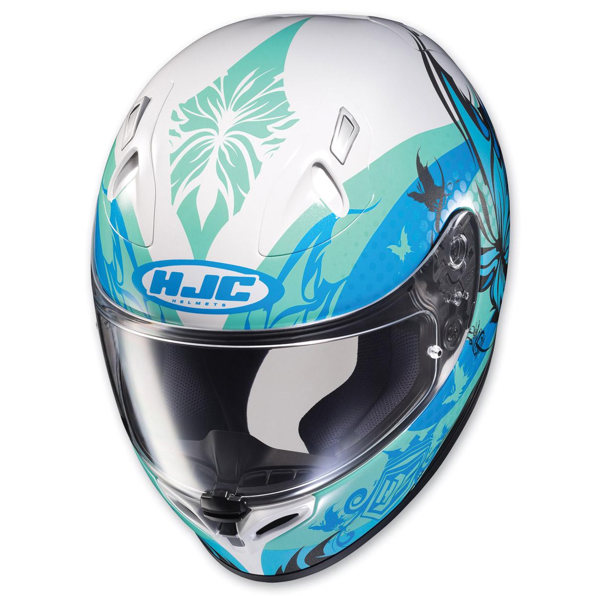 hjc fg 17 flutura blue white full face helmet 175 337 j p cycles. Black Bedroom Furniture Sets. Home Design Ideas