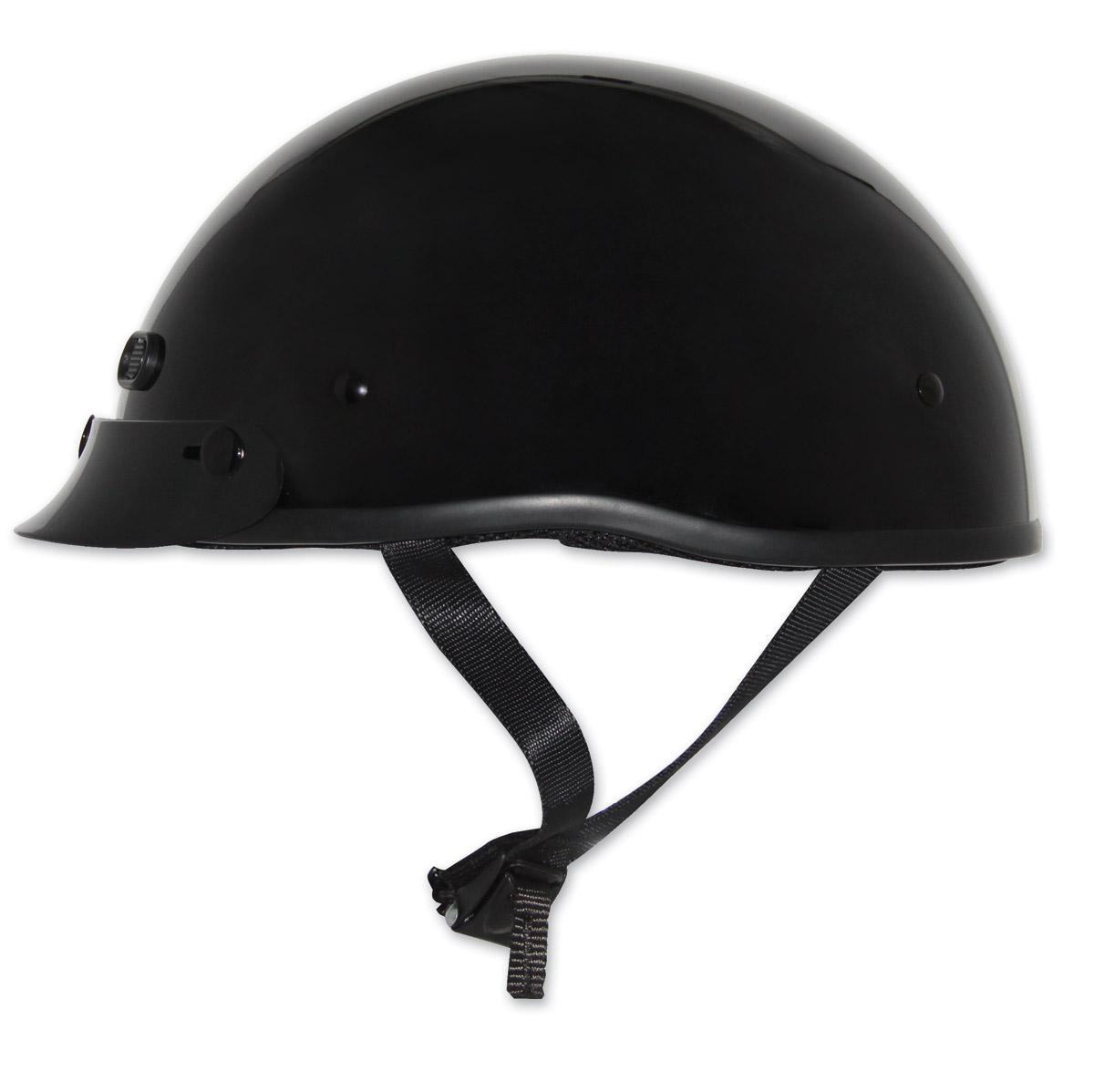 Zox Mikro Custom Gloss Black Half Helmet