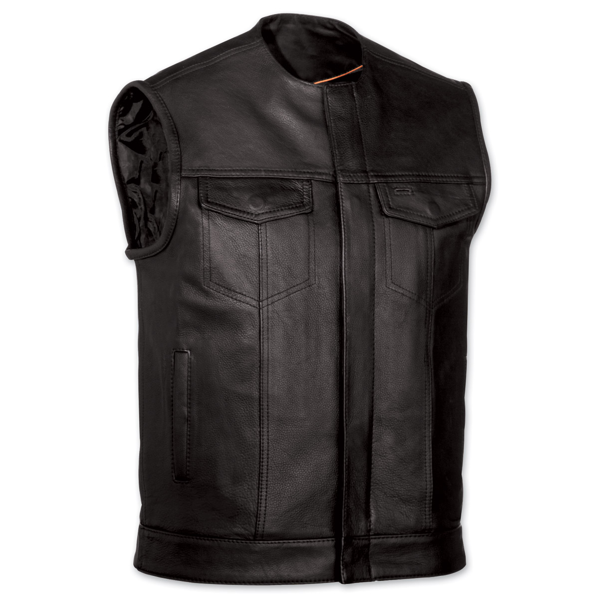 Leather jackets and vests