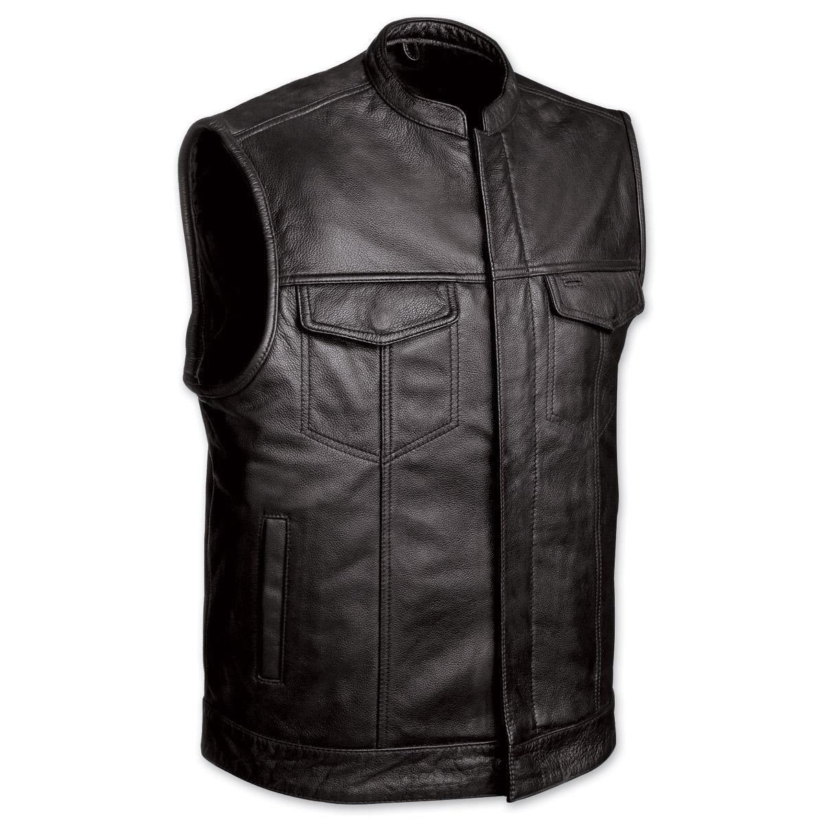 Yamaha motorcycle gloves india - Men S Club Motorcycle Black Leather Vest