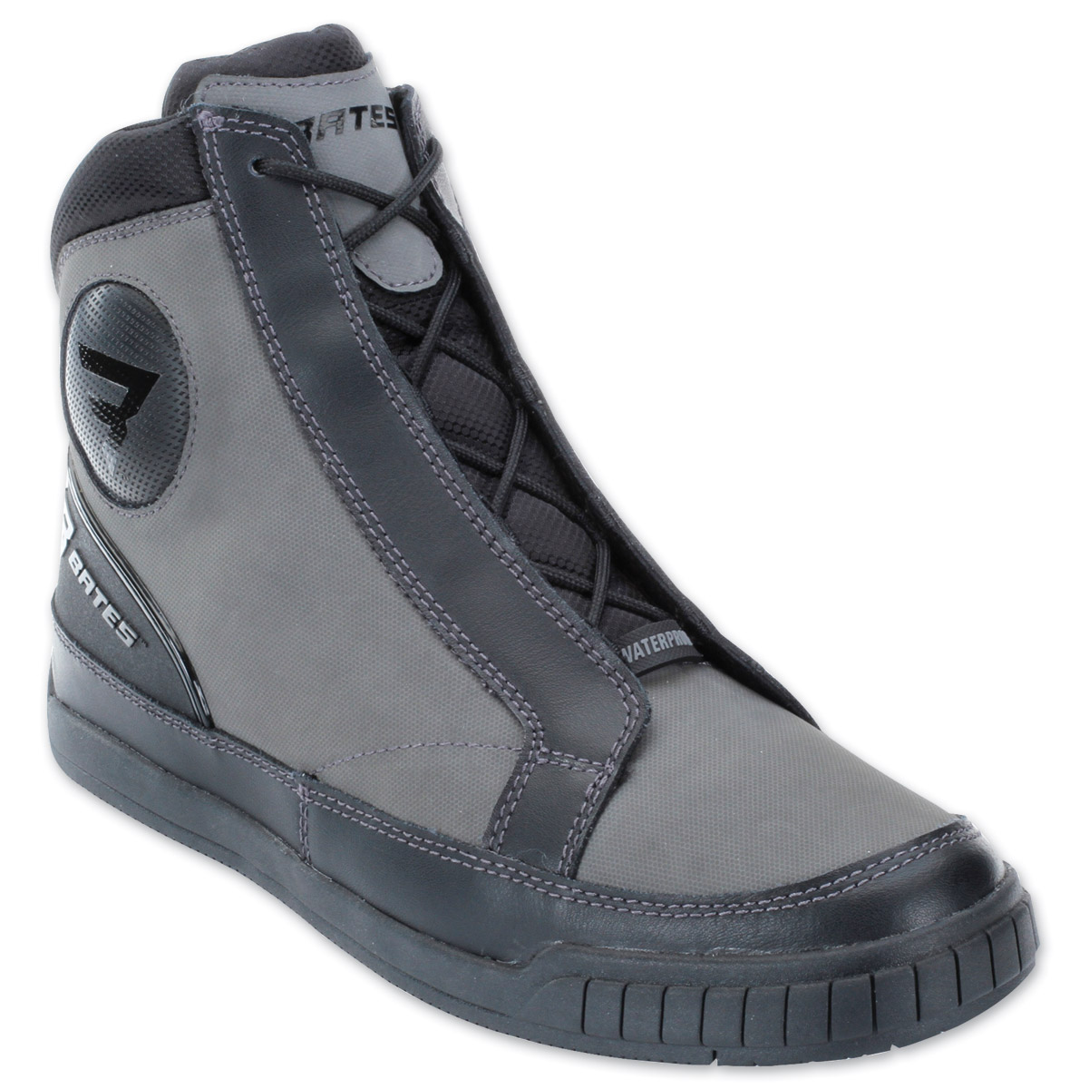 Bates Men's Taser Grey/Black Leather Boots
