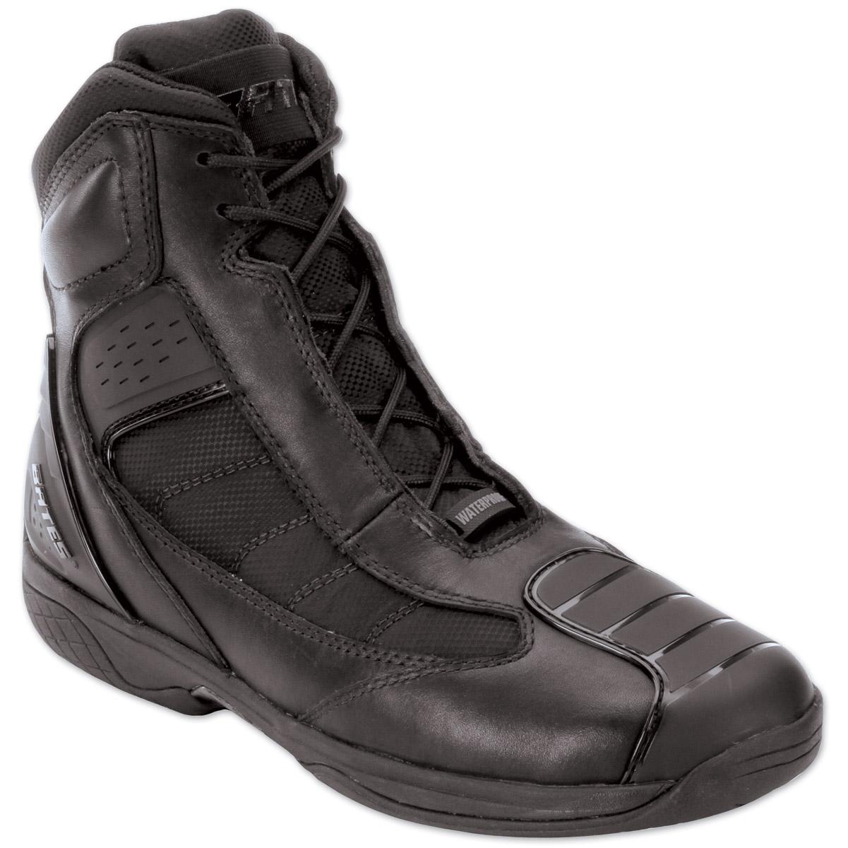 Bates Men's Beltline Black Leather Boots