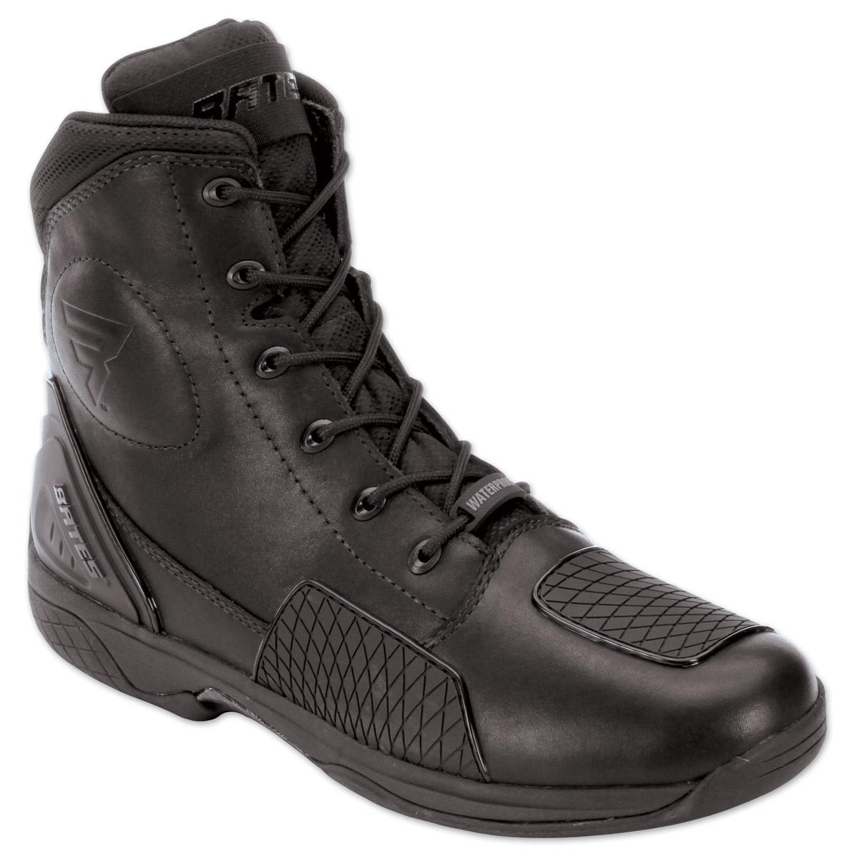 bates adrenaline black leather boots 176 102 j p cycles