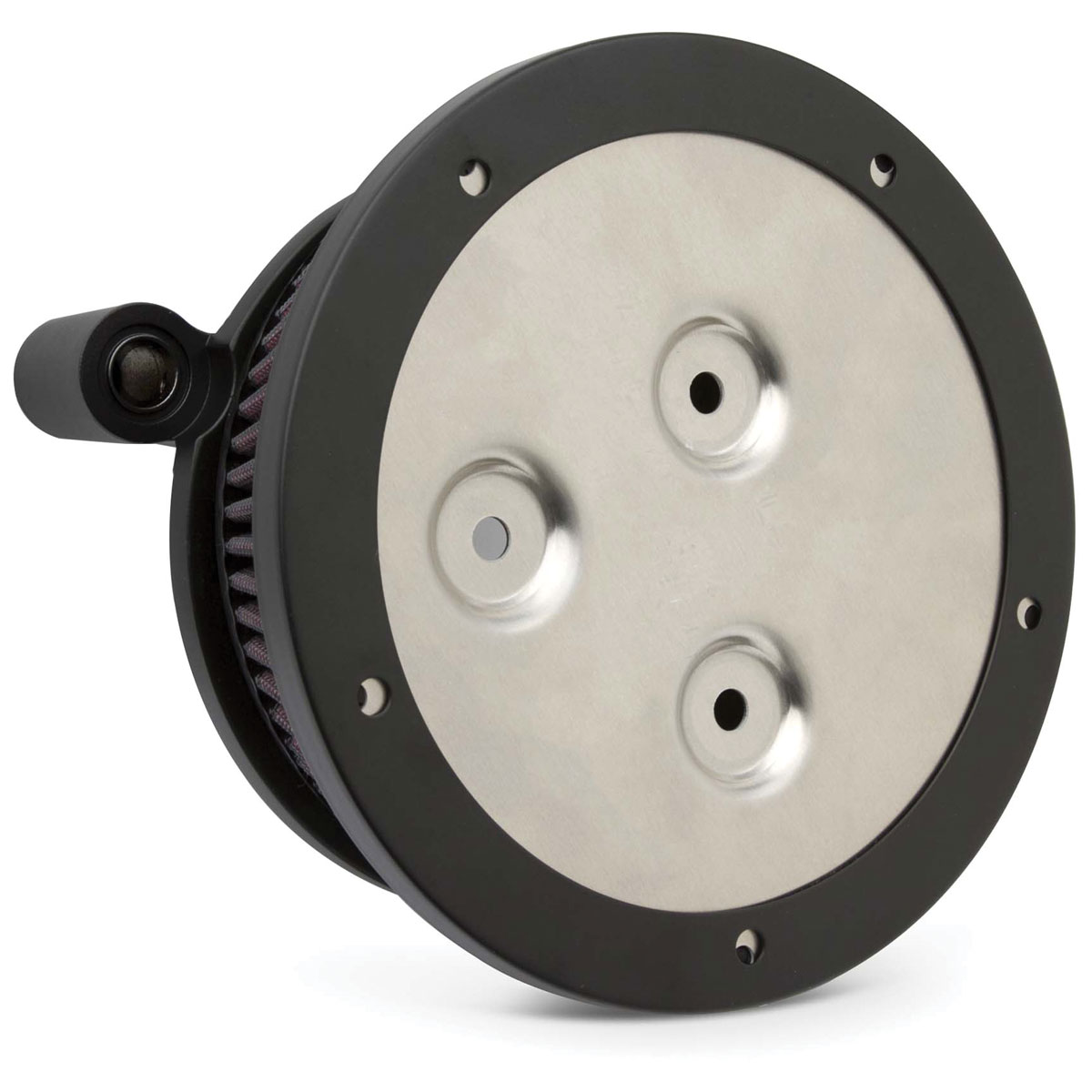 Arlen Ness Black Derby Sucker Air Cleaner Kit with Synthetic Filter
