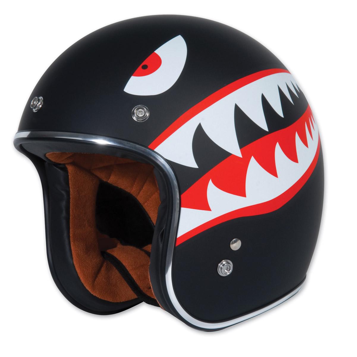 Torc T50 Flying Tiger Black Open Face Helmet