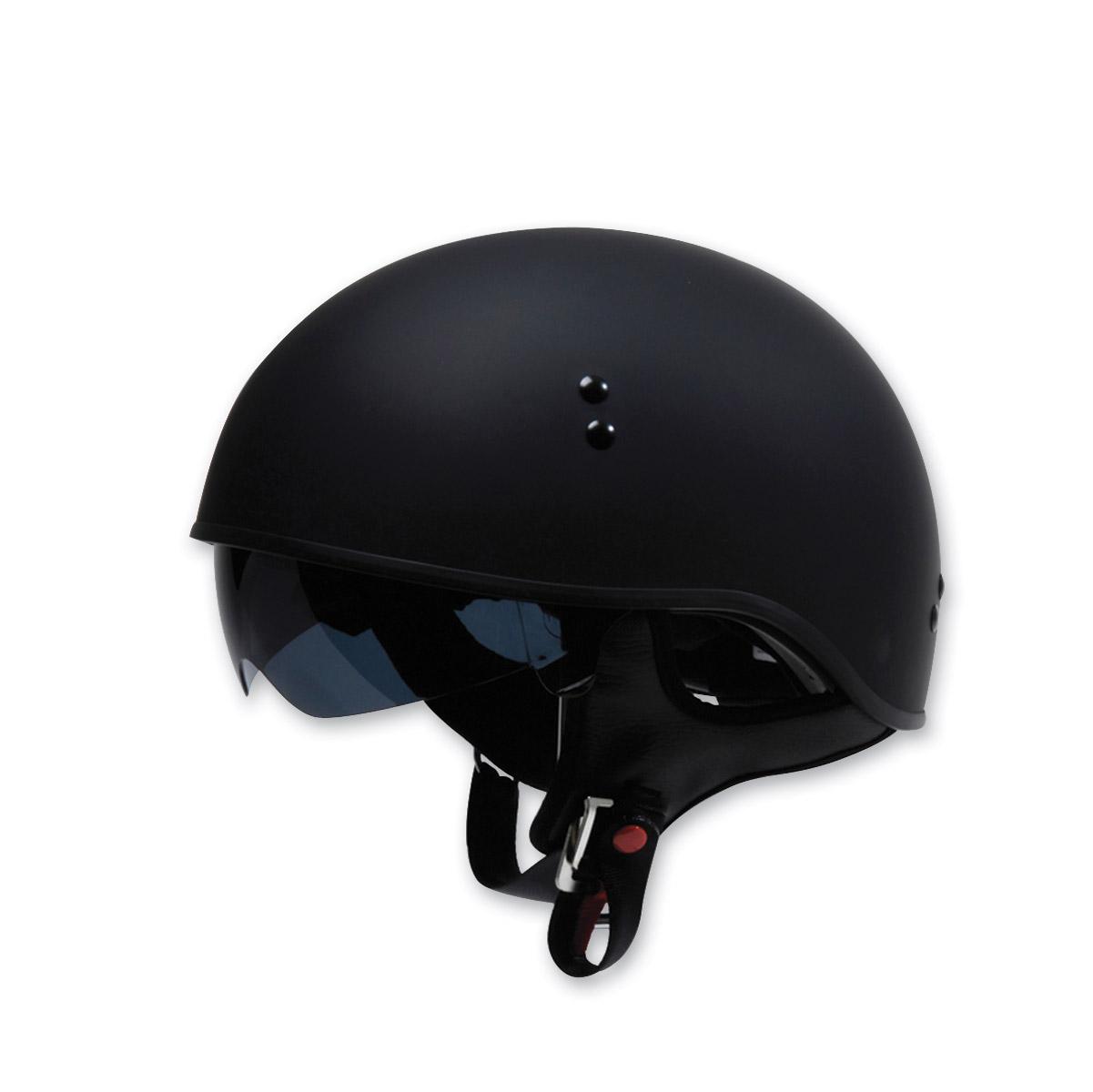 TORC T-55 Half Shell Spec Ops Low Profile Motorcycle Cruiser Helmet DOT XS-2XL