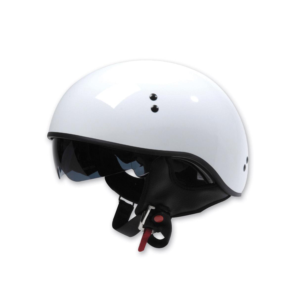 Torc T55 White Half Helmet