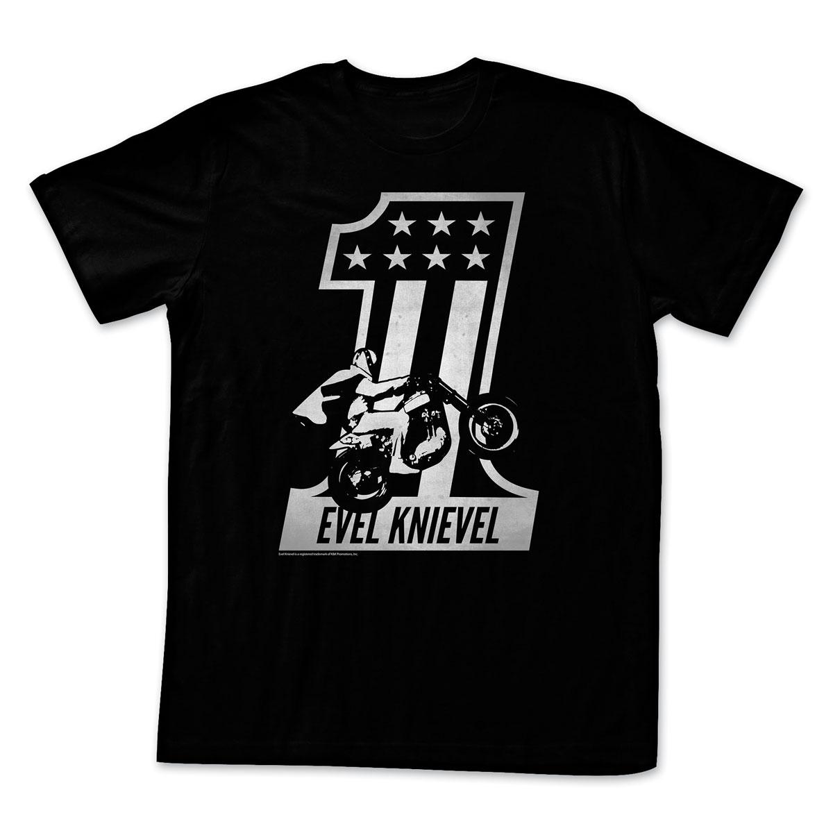 Evil Knievel Black One Men's Black Short Sleeve T-Shirt