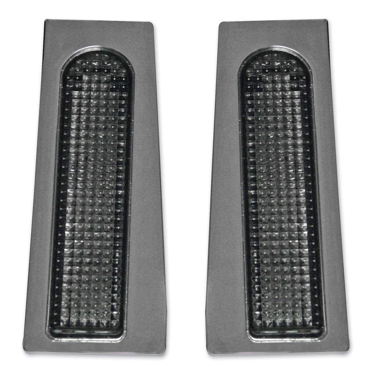 Custom Dynamics Chrome Fillerz Saddlebag Support LEDs