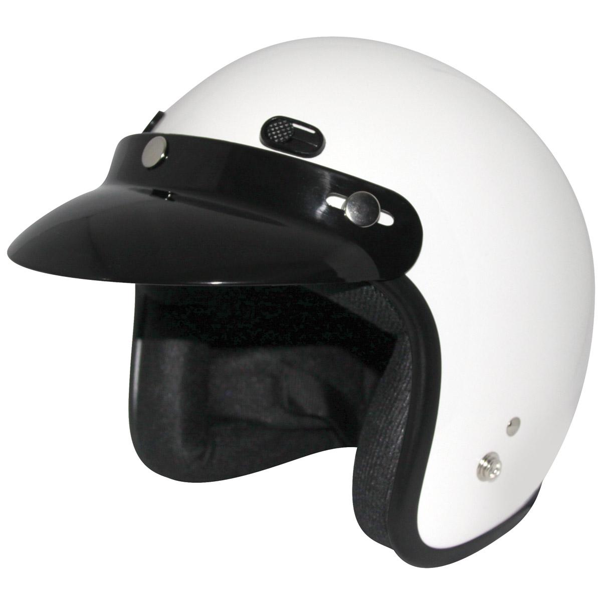 Zox Classic Gloss White Open Face Helmet