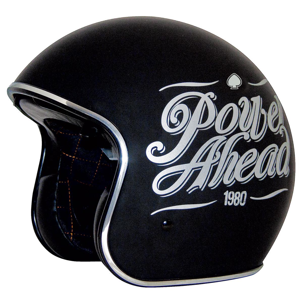 Zox Route 80 DDV Slogan Gloss Black Open Face Helmet