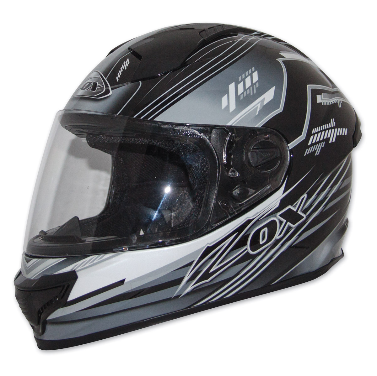 Zox Primo Junior Black/Silver Full Face Helmet