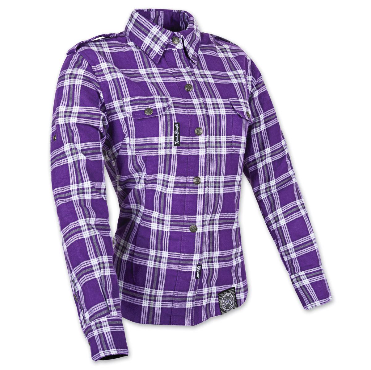 Women's Smokin' Aces Purple/White Flannel Jacket