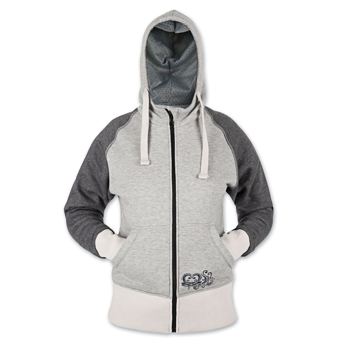 Speed and Strength American Beauty Ladies Armored Gray Hoodie