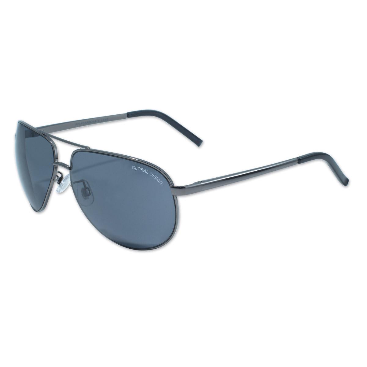 global vision eyewear aviator 4 gun metal frame w smoke