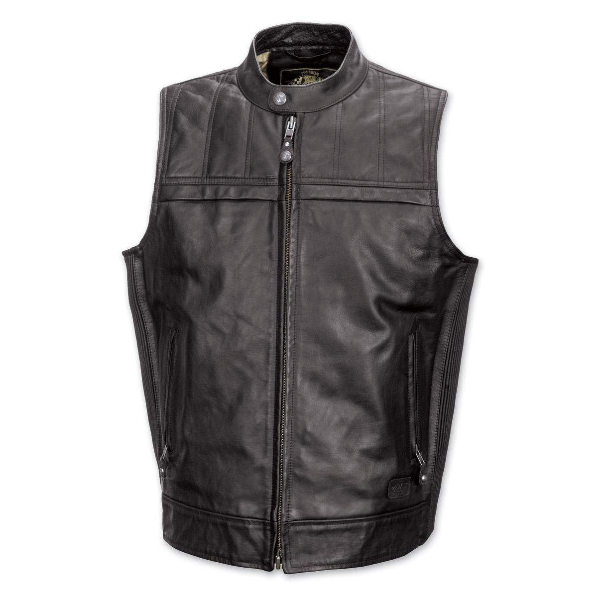 Roland Sands Design Colt Men's Black Leather Vest