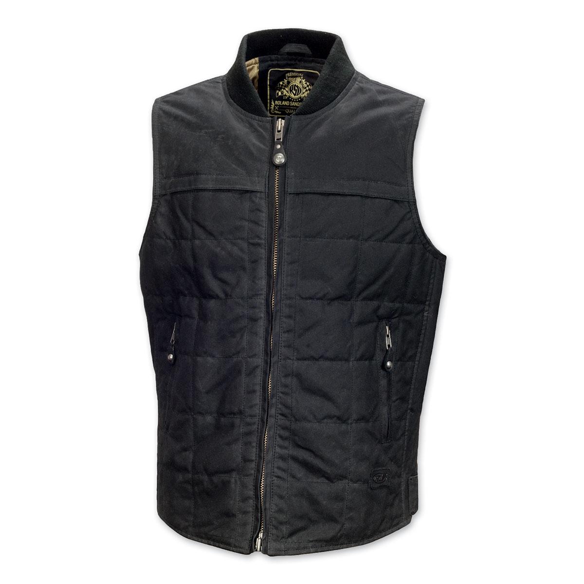 Roland Sands Design Ringo Men's Black Waxed Cotton Vest