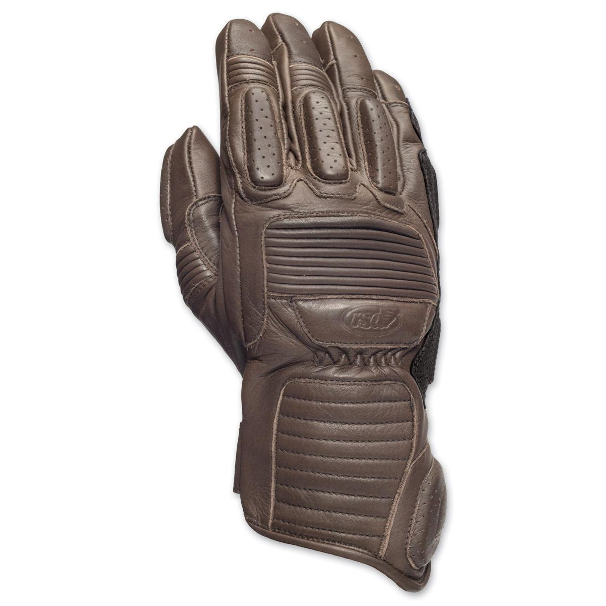 Roland Sands Design Ace Men's Tobacco Leather Gloves