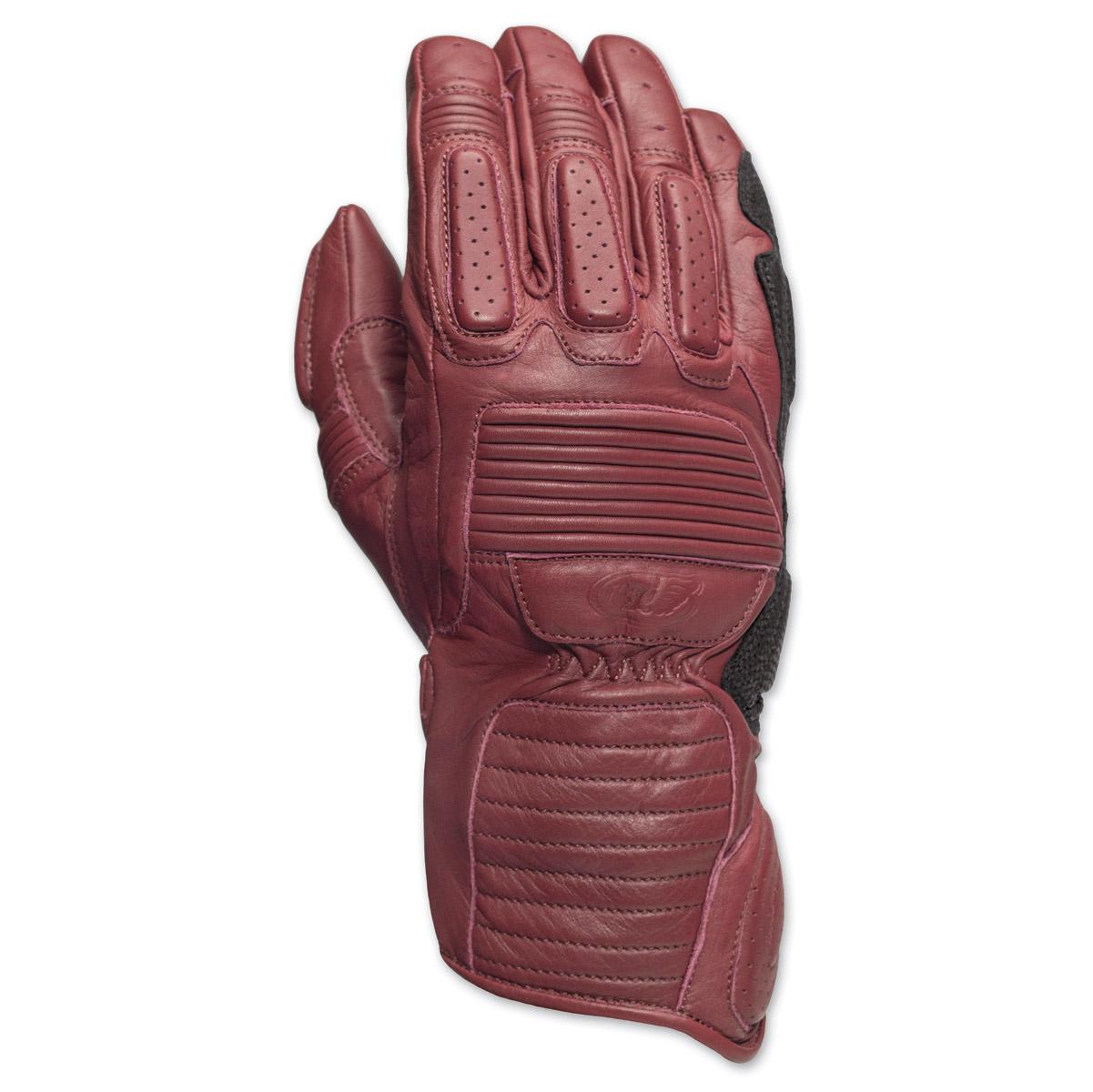 Roland Sands Design Ace Men's Oxblood Leather Gloves