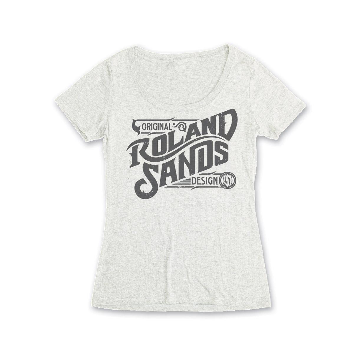Roland Sands Design Original Design Women's Vintage White Scoop Neck T-Shirt