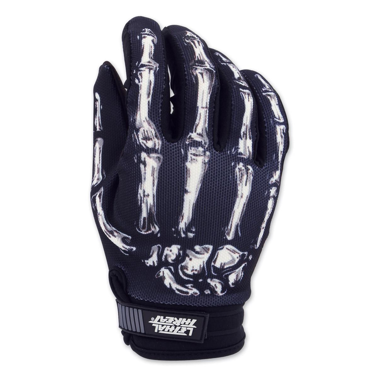 Lethal Threat Men's Bone Hand Black Garage Gloves