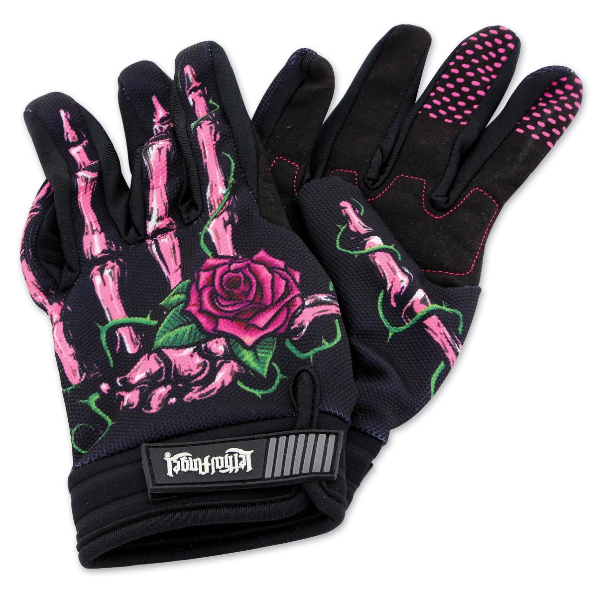 Lethal Threat Women s Pink Rose Black Garage Gloves - GL15002XL ... 85c51eee37