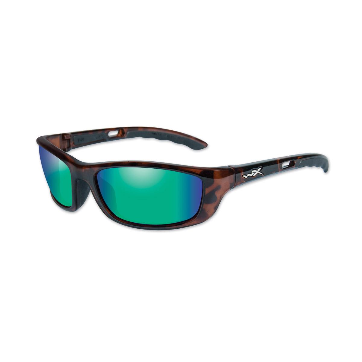 Wiley X P-17 Gloss Demi Frame w/Emerald Lens Sunglasses