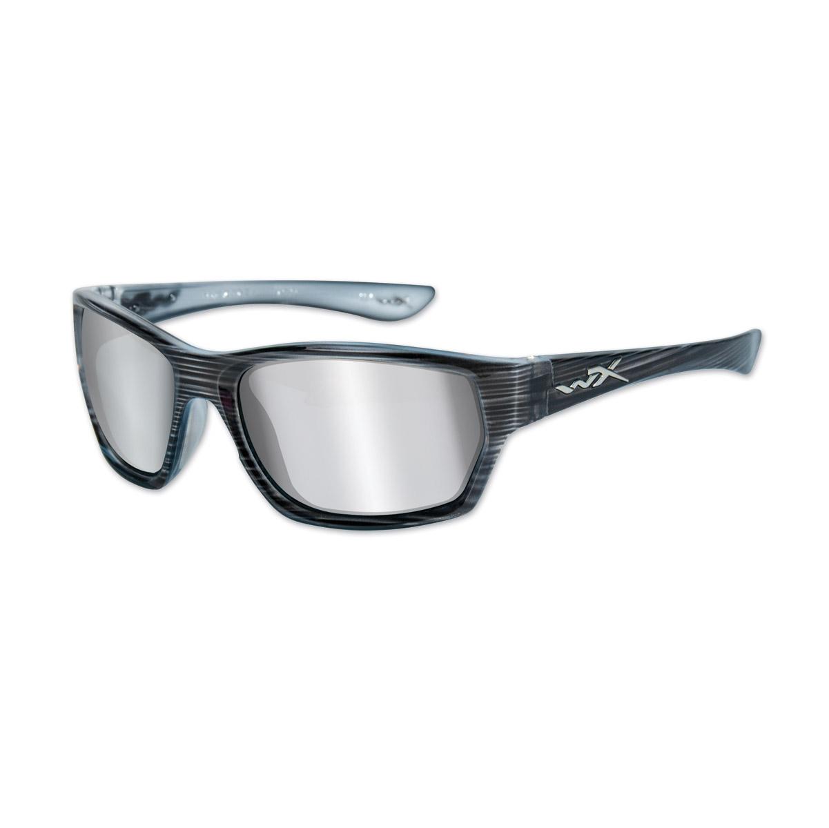 Wiley X WX Moxy Black Streak Frame w/Sliver Flash Mirror Lens Sunglasses