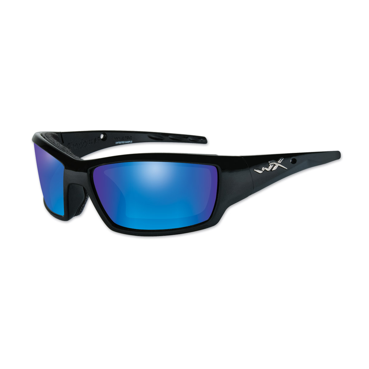 Wiley X WX Tide Gloss Black Frame w/Blue Mirror Lens Sunglasses