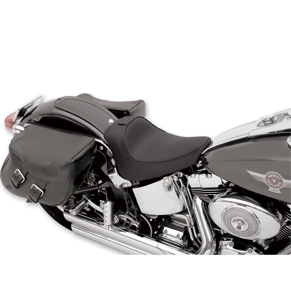 Drag Specialties Smooth Solo Seat with Backrest Receiver