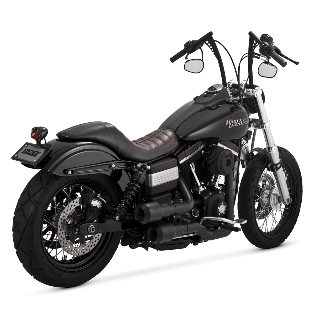 Vance & Hines 2 into 2 Hi Output Grenades Exhaust Black with Black End Caps