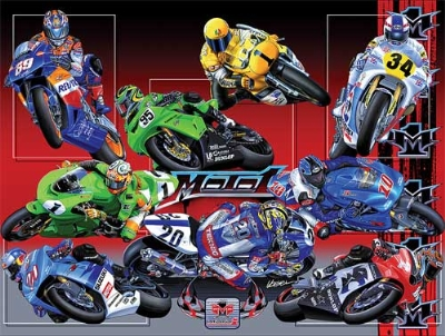 Moto 1 USA Collage Poster