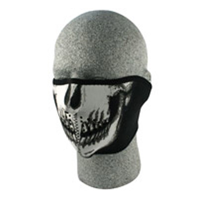 ZAN headgear Neoprene Glow-in-the-dark Skull Face Half Mask
