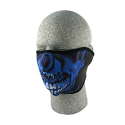 ZAN headgear Neoprene Blue Chrome Half Mask