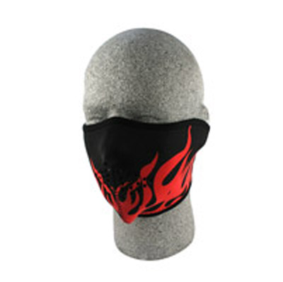ZAN headgear Neoprene Red Flames Half Mask