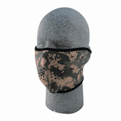 ZAN headgear Neoprene Digital ACU Camo Half Mask