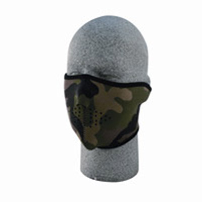 ZAN headgear Neoprene Woodland Camo Half Mask