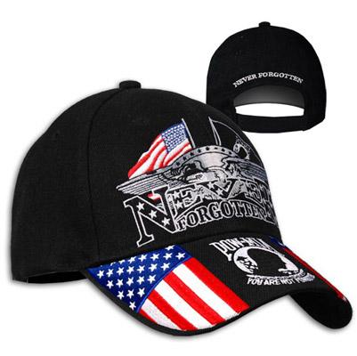 Never Forgotten POW Embroidered Ball Cap