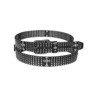 Crosses & Studs Leather Belt