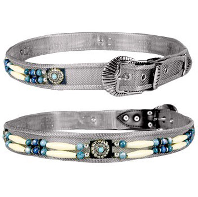 Silver Mesh with Turquoise Beads Belt