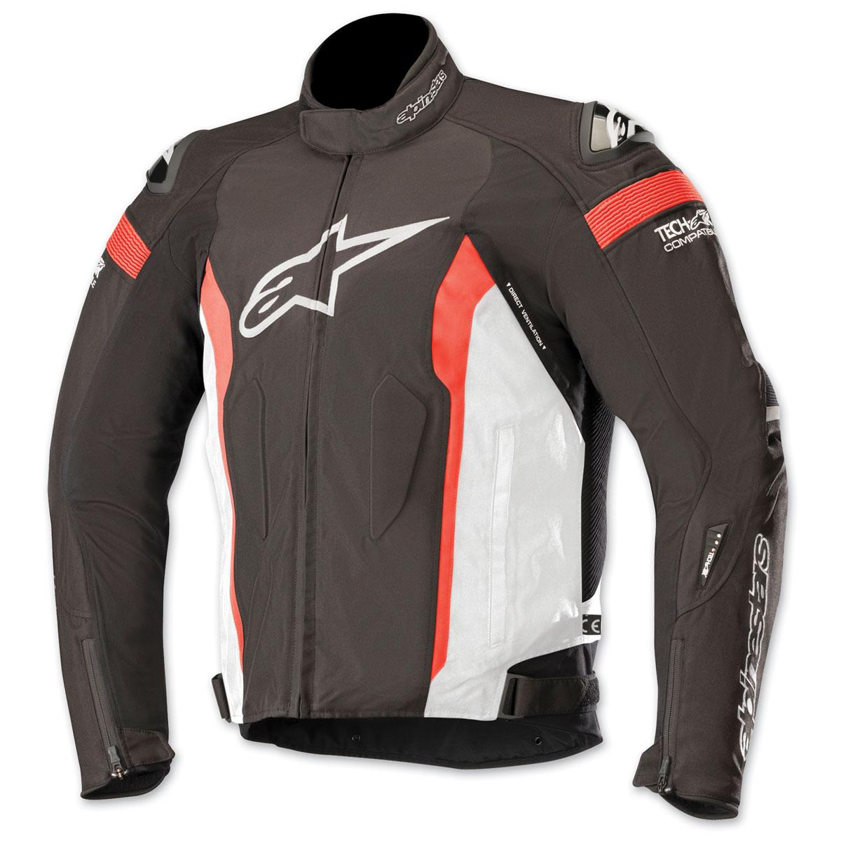 Alpinestars Men's T-Missile Drystar Black/White/Red Textile Jacket