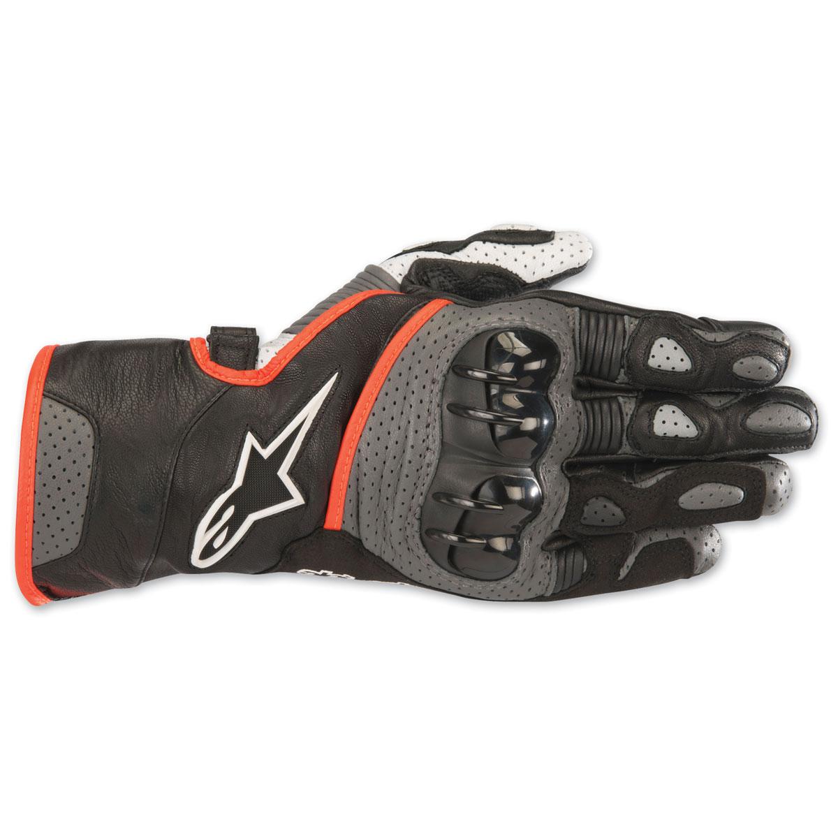 Alpinestars Men's SP-2 v2 Black/Gray/Red Gloves