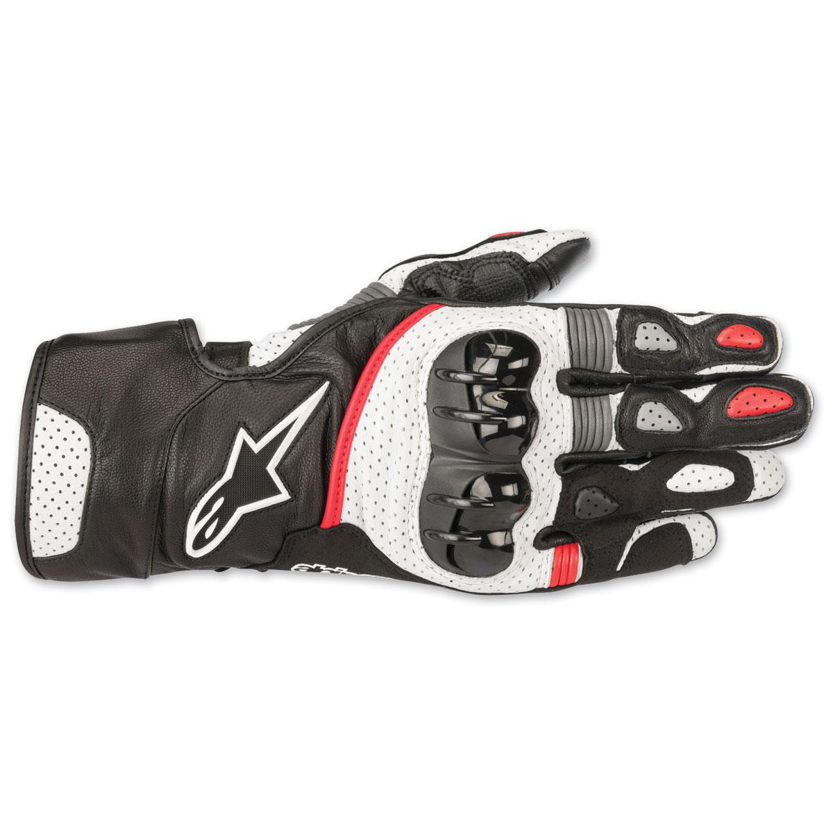 Alpinestars Men's SP-2 v2 Black/White/Red Gloves